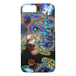 EPHEMERAL/ WOMAN WITH COLORFUL FRACTAL MASK iPhone 8/7 CASE