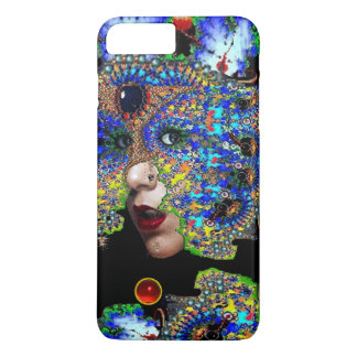 EPHEMERAL/ WOMAN WITH COLORFUL FRACTAL MASK iPhone 8 PLUS/7 PLUS CASE