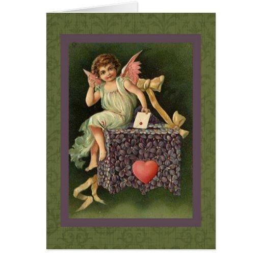 Ephemeras de la tarjeta del día de San Valentín de