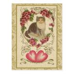 Ephemeras de la tarjeta del día de San Valentín Postal
