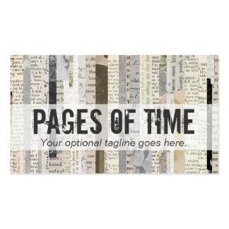 Ephemeras del libro de la literatura del vintage - tarjetas de visita