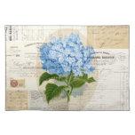 Ephemeras francesas Placemat del Hydrangea azul de Manteles Individuales