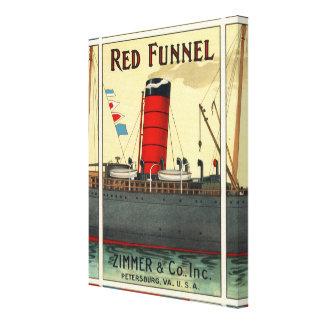 Ephemeras rojas de la nave del anuncio del tabaco lona envuelta para galerias