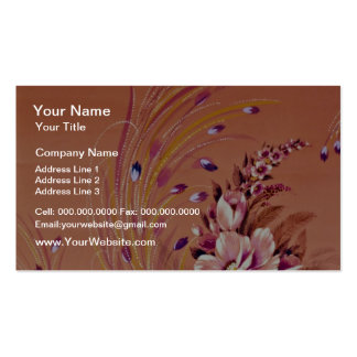 Ephemeria Yellow flowers Double-Sided Standard Business Cards (Pack Of 100)