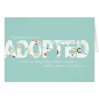 Ephesians 1:5 Adoption Verse: Floral Card