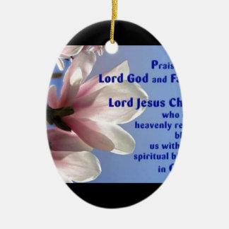 Ephesians 1 ceramic ornament
