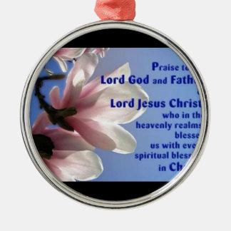 Ephesians 1 metal ornament