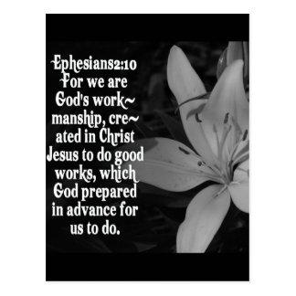 EPHESIANS 2:10 BIBLE SCRIPTURE QUOTE POSTCARD
