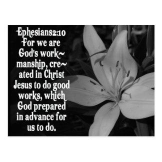 EPHESIANS 2:10 BIBLE SCRIPTURE QUOTE POSTCARDS