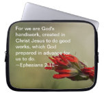 Ephesians 2:10 computer sleeves
