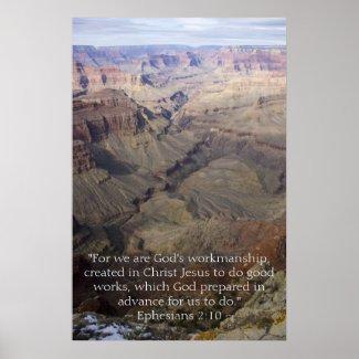 Ephesians 2:10 Poster print