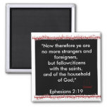 Ephesians 2:19 scripture magnet