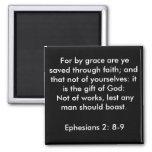 Ephesians 2:8-9 magnet