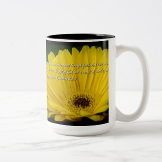 Ephesians 2:8- 9 on Black Two-Tone Coffee Mug