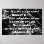 Ephesians 2:8-9 posters