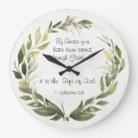 Ephesians 2:8 By Grace you have been saved Large Clock