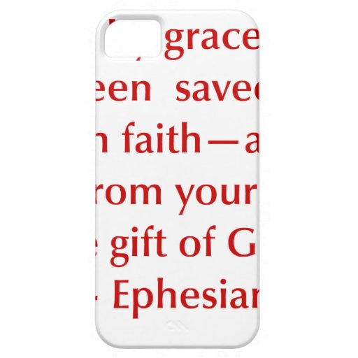 Ephesians-2-8-opt-burg.png Funda Para iPhone 5 Barely There