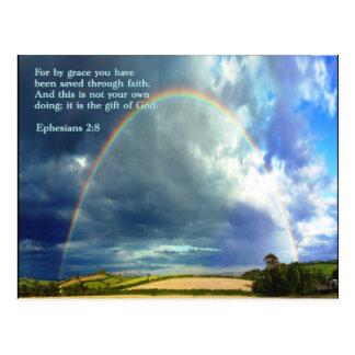 Ephesians 2:8  Rainbow Postcard