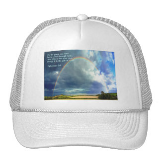 Ephesians 2:8  Rainbow Trucker Hat