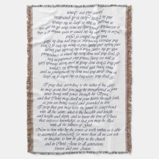 Ephesians 3:16-21 Prayer Throw Blanket