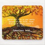 Ephesians 3:17 mouse pad