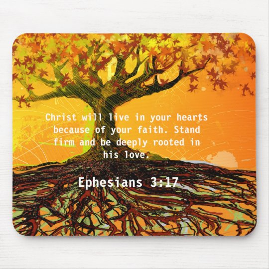 Ephesians 3 17 Mouse Pad Zazzle Com