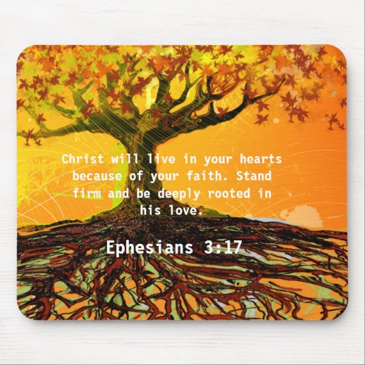 Ephesians 3 17 Mouse Pad Zazzle