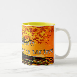 Ephesians 3:17 Two-Tone coffee mug