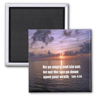 Ephesians 4:26 2 inch square magnet