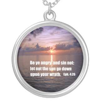 Ephesians 4:26 silver plated necklace