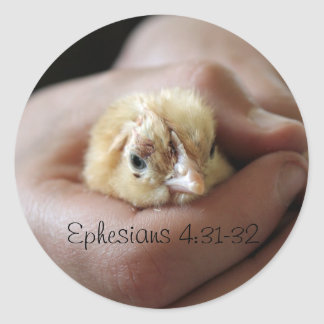 Ephesians 4:31-32 Baby Chick Sticker