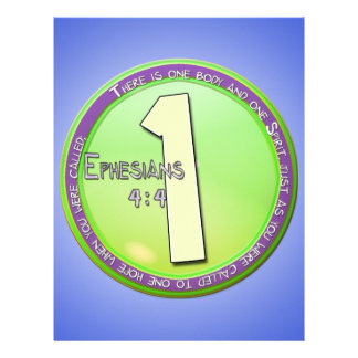 EPHESIANS 4:4 ONE BODY AND ONE SPIRIT LETTERHEAD DESIGN
