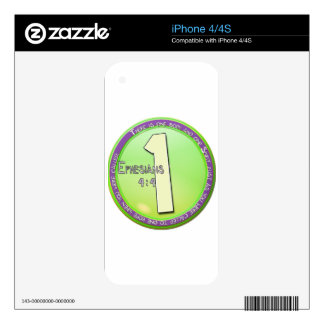 EPHESIANS 4:4 ONE BODY AND ONE SPIRIT DECAL FOR iPhone 4S