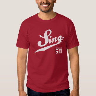 Ephesians 5:19 Sing Adult T-Shirt