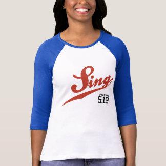 Ephesians 5:19 Sing Ladies' Baseball Jersey T-Shirt