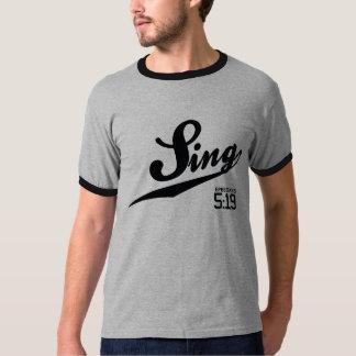 Ephesians 5:19 Sing Ringer T-Shirt