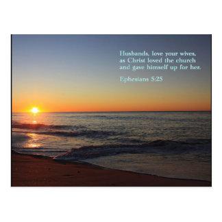 Ephesians 5:25  Sunrise Postcard