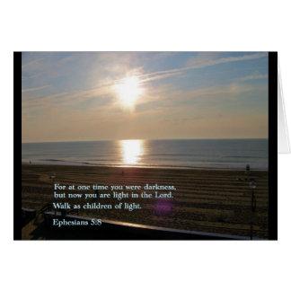 Ephesians 5:8  Sunrise Card