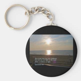 Ephesians 5:8  Sunrise Keychain