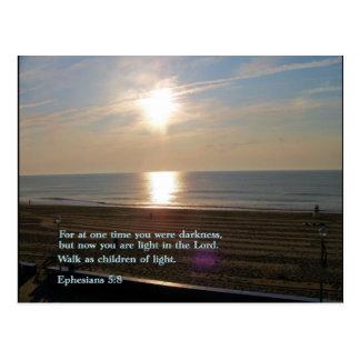 Ephesians 5:8  Sunrise Postcard