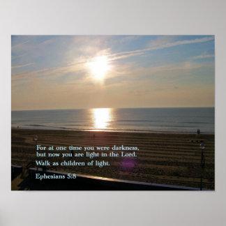 Ephesians 5:8 Sunrise Posters