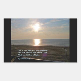 Ephesians 5:8  Sunrise Rectangular Sticker