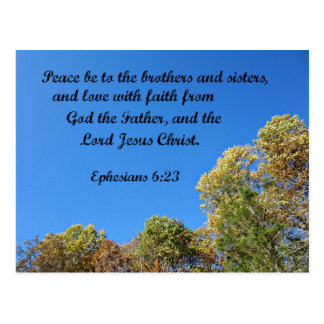 Ephesians 6:23 Peace be to the brothers and sister Postcard