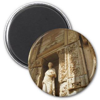 Ephesus Turkey - Celsius library at Ephesus 2 Inch Round Magnet