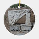 Ephesus, Turkey Double-Sided Ceramic Round Christmas Ornament