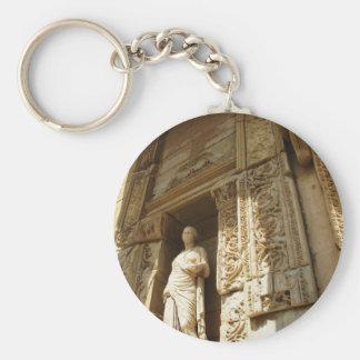 Ephesus Turquía - biblioteca cent3igrada en Ephesu Llavero Redondo Tipo Pin
