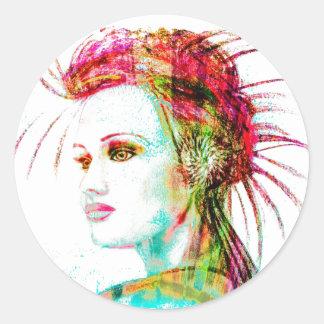 """Ephyra """"Daughter of Oceanus"""" Classic Round Sticker"""