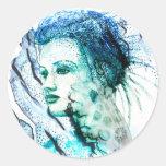 """Ephyra """"Daughter of Oceanus"""" Round Stickers"""