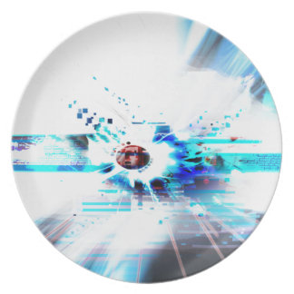 EPIC ABSTRACT d1s3 Melamine Plate