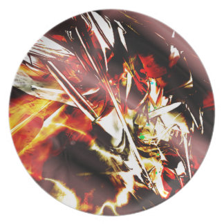 EPIC ABSTRACT d3s3 Dinner Plate